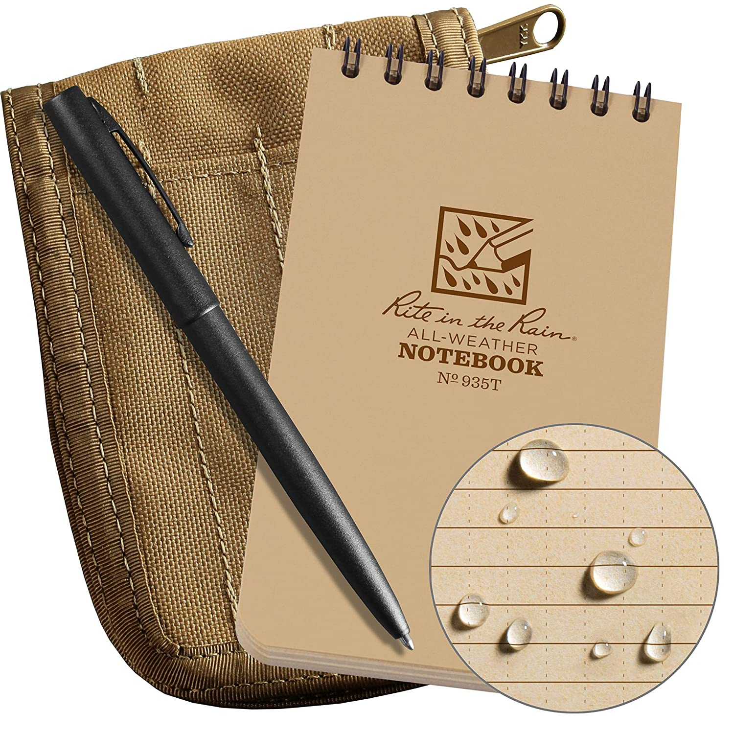 Rite In The Rain Weatherproof 3 X 5 Top Spiral Ballpoint Diagram And Notepad Royalty Free Stock Photos Notebook Kit Tan Cordura Fabric Cover An Pen No