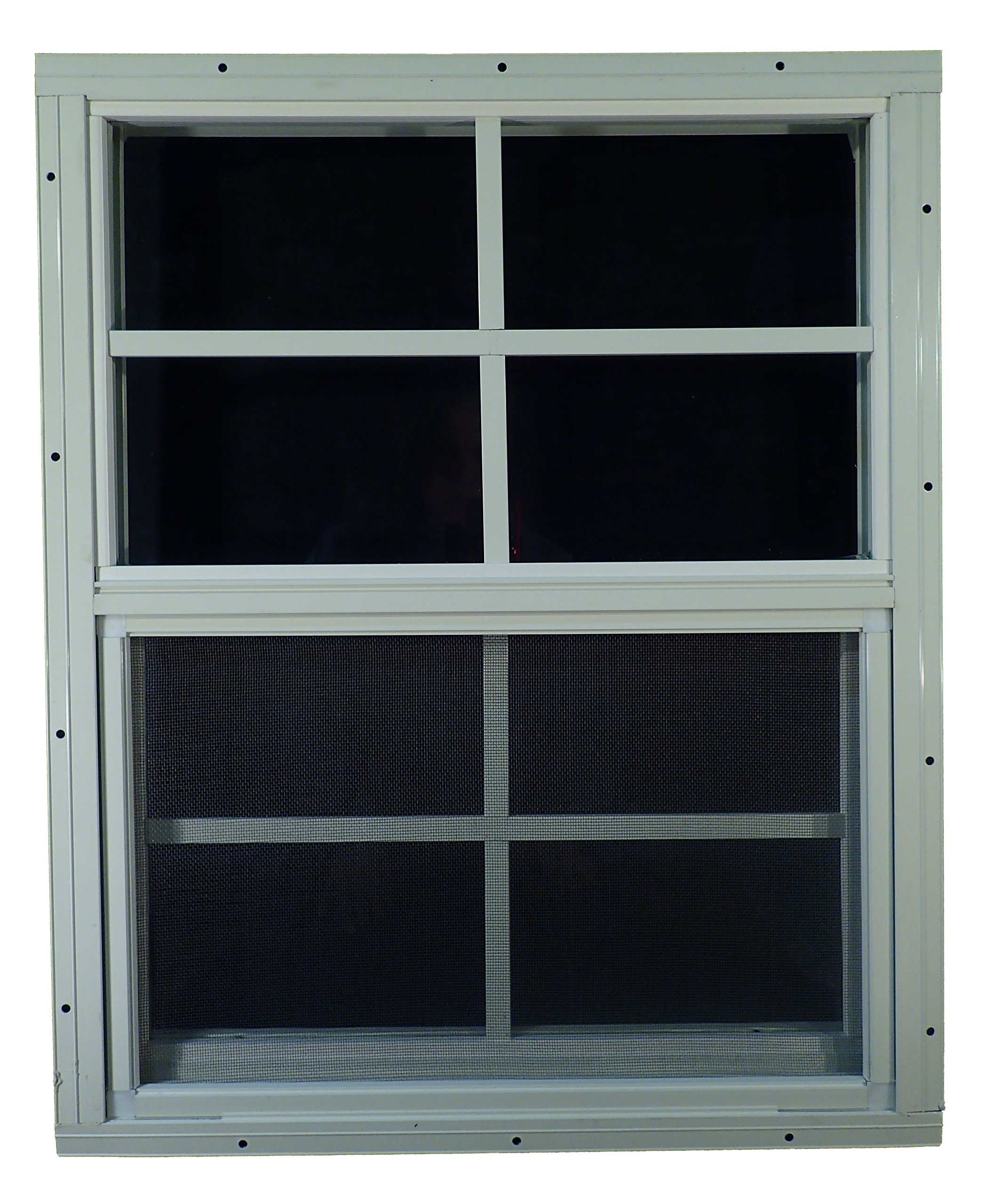 Shed Windows 18'' W x 23'' H - Flush Mount - Playhouse Windows (White)