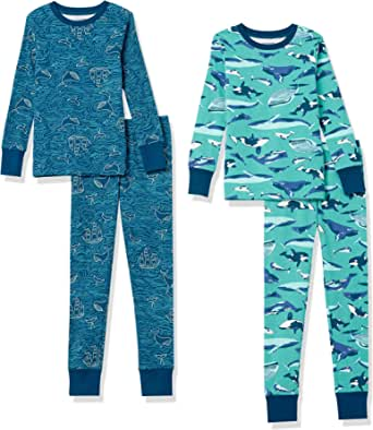 Amazon Essentials Snug-Fit Cotton Pajamas Sleepwear Sets Niños, Pack de 4