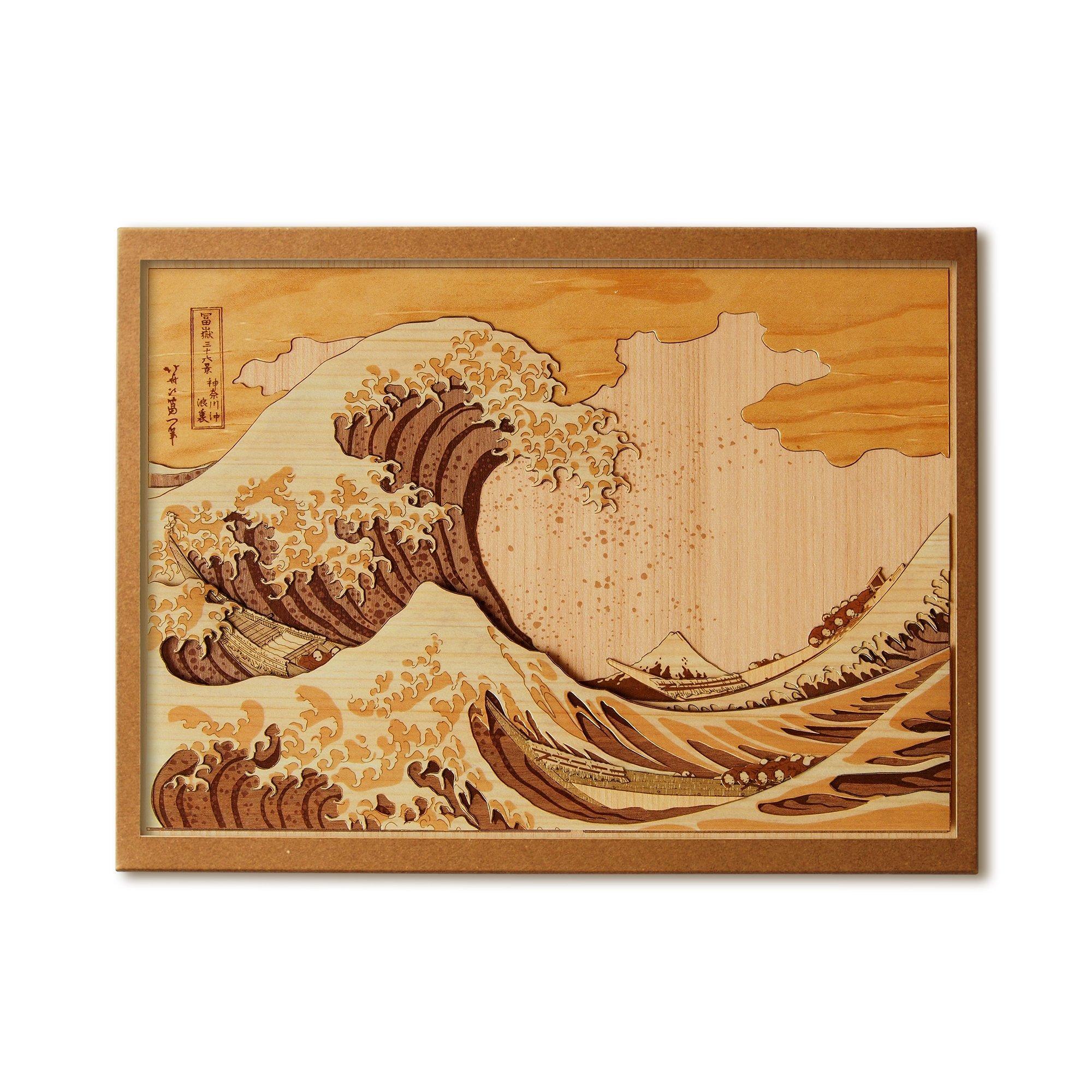 KINOWA Ukiyoe Art Kit Kiharie The Great Wave Off Kanagawa Thirty-six Views of Mount Fuji by Hokusai Made in Japan