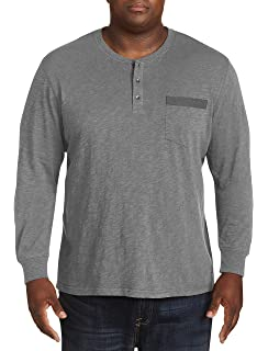 df405e2e Harbor Bay by DXL Big and Tall Wicking Long-Sleeve Henley Shirt at ...