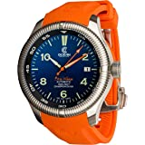 Ocean Crawler Champion Diver Automatic Watch. Blade Wakatobi Blue Face, Rubber and Leather Straps