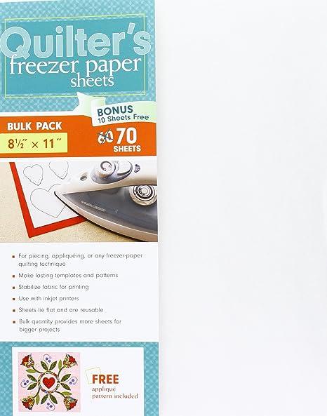 C&T Publishing Quilters Lámina de Papel para congelador, 8.5 ...
