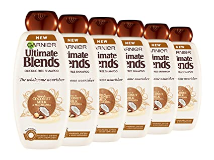 Garnier ultimate blends leche de coco seco cabello Champú, 360 ml, pack de 6