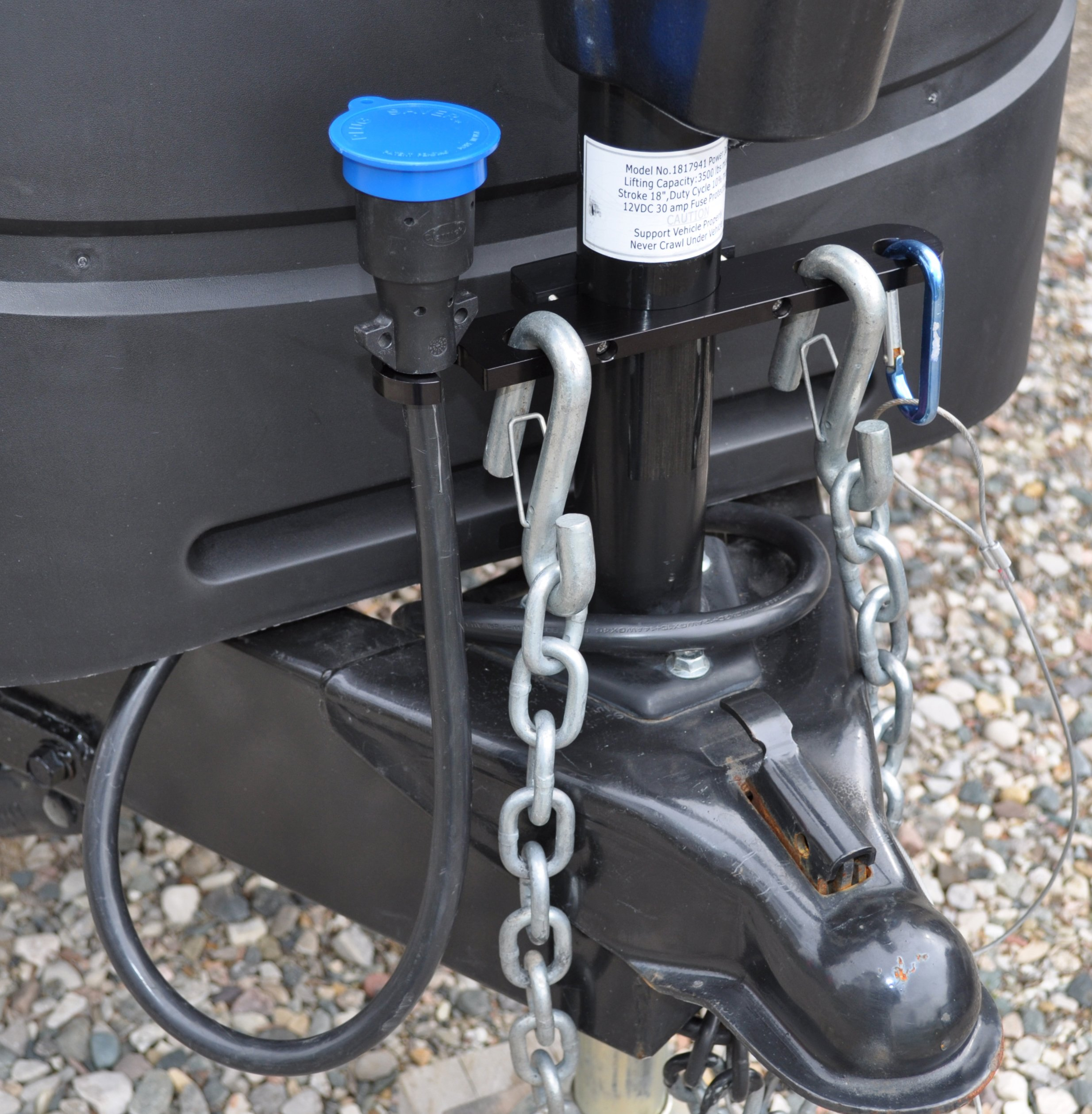 GR innovations llc Tongue Jack Trailer Towing Organizer | Black Aluminum Chain Saver Premium Kit by GR innovations llc