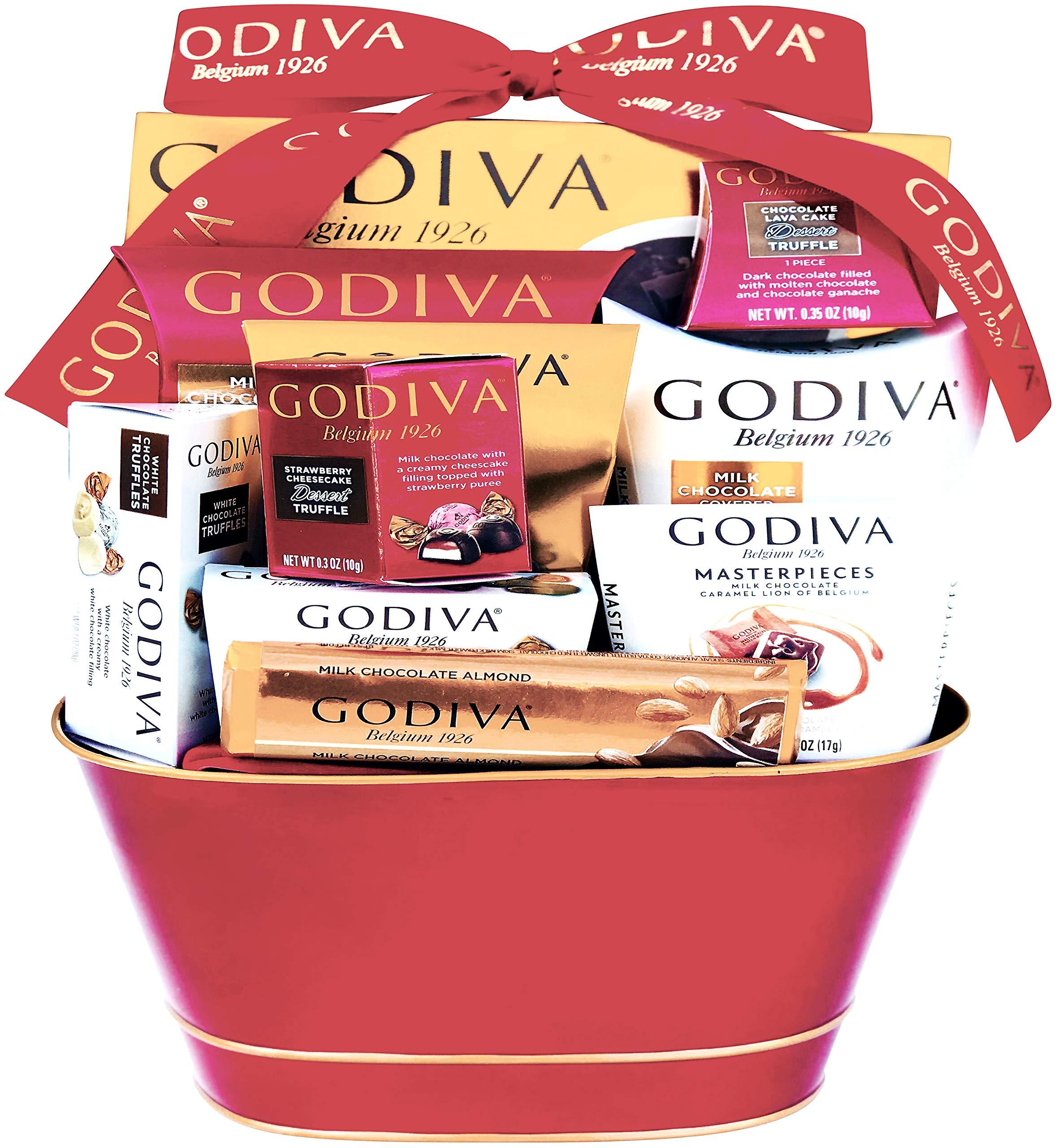Godiva Chocolatier DELUXE Gift Basket - New 2018 Assortments (12 Count)