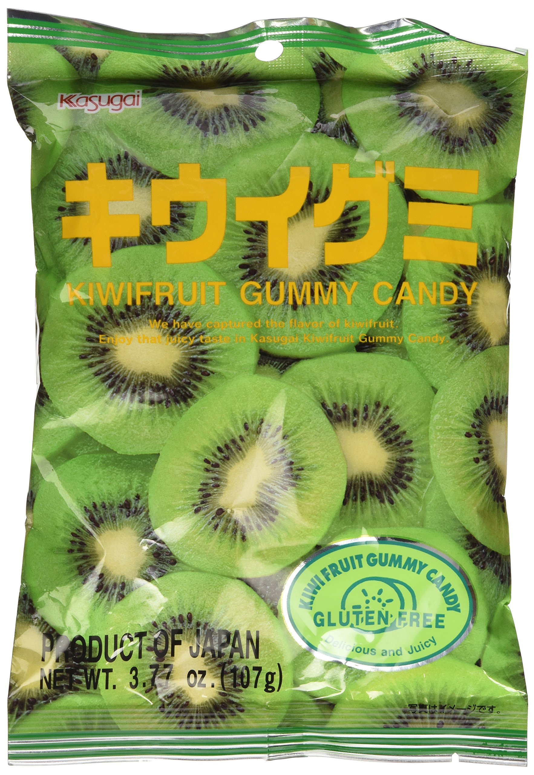 Japanese Fruit Gummy Candy from Kasugai - Kiwi - 107g