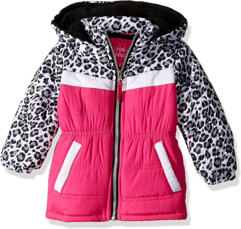 Pink Platinum Baby Girls Infant Printed Foil Star Puffer Jacket