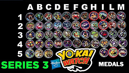 46 opinioni per Medaglia a Scelta Per Orologio Yo-Kai Watch- MEDIAMENTE COMUNI- serie 3 ( 1 solo