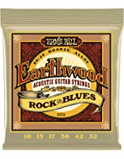 Ernie Ball 2008 Earthwood Rock and Blues 80/20 Bronze Acoustic String Set with plain G (10-52)