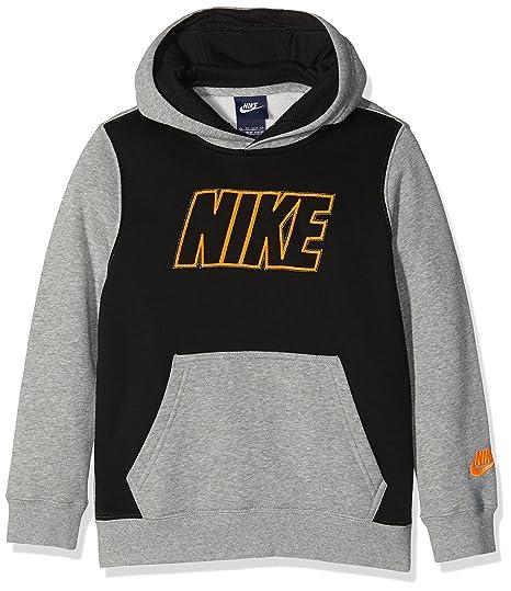 Nike B Nsw Hd Po Flc Gfx2 Swsh - Sudadera para niño, color gris,