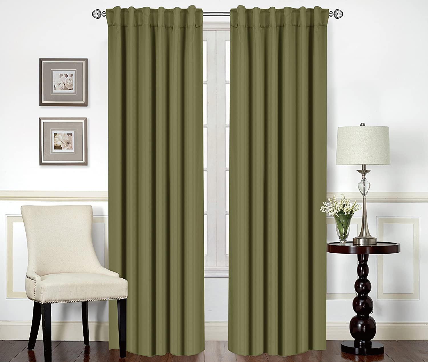 Blackout, Room Darkening Curtains Window Panel Drapes