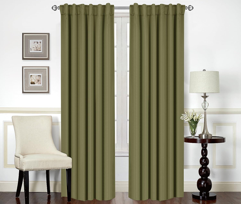 Blackout, Room Darkening Curtains Window Panel Drapes