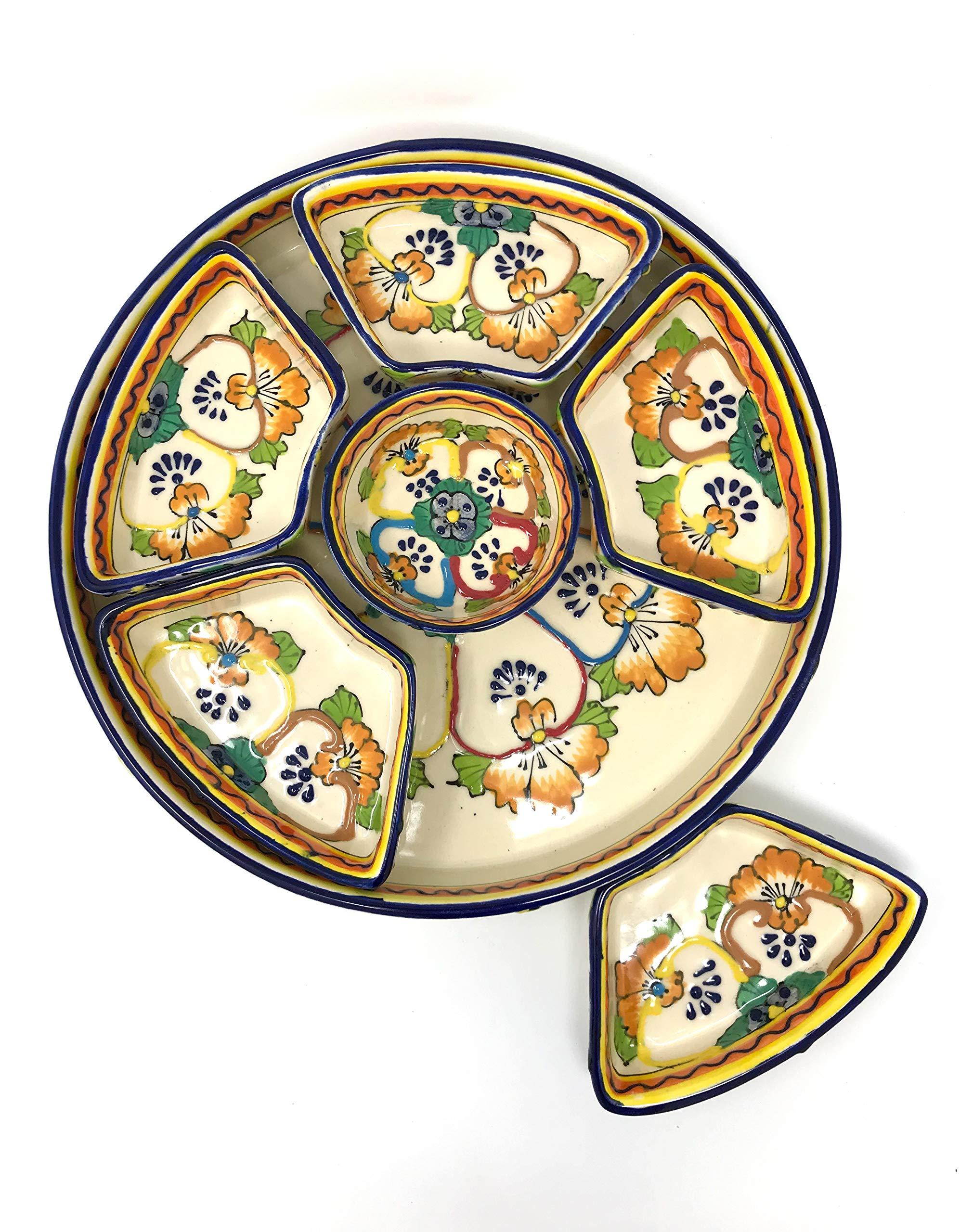 Mexican Talavera Taco Serving Set by Mexican Talavera Pottery (Image #4)