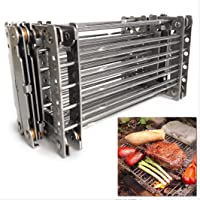 Bitty Big Q Stainless Steel Retractable Ultra-Compact Camp Grill Rack