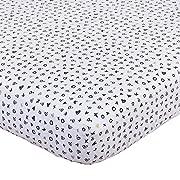 NoJo NoJo - XOXO - Crib Sheet, Black, White, Gold