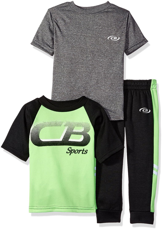 CB Sports Boys' 3 Piece Athletic T-Shirts and Fleece Pant CB Sports Children' s Apparel TN46