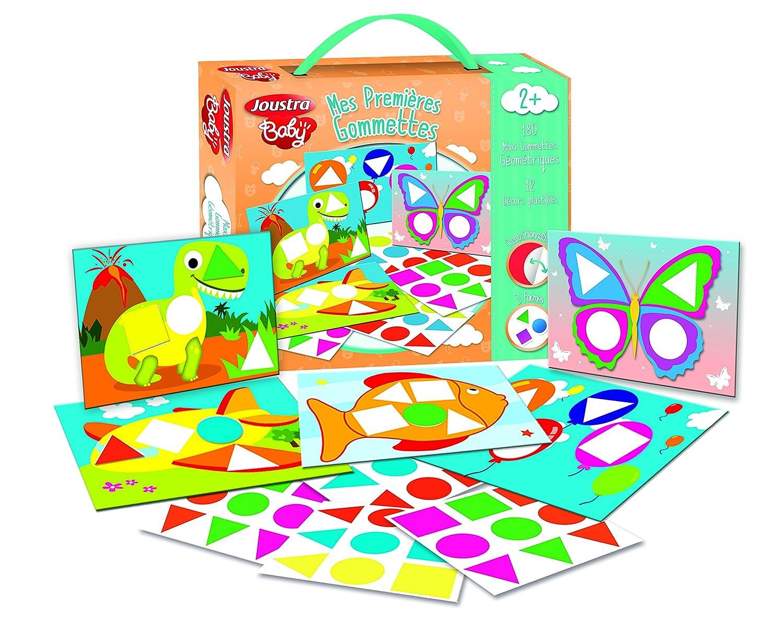 Joustra –  41915 –  Maxi Pegatinas geomé tricas Adhesivas + –  Cuaderno plastificado