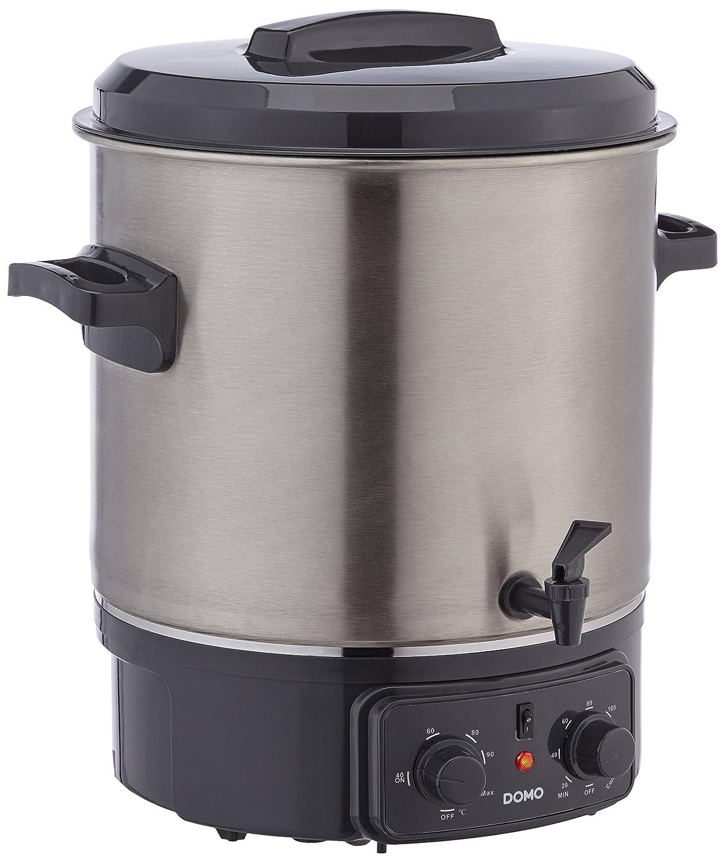 Acciaio piatto preservando con rubinetto, Domo DO323W 27L elettrico pentola preservare