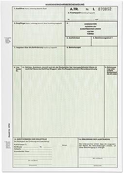 A Tr Formular Warenverkehrsbescheinigung 12