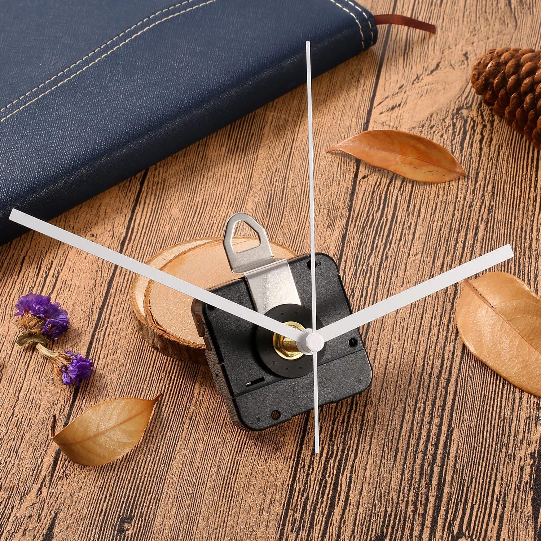 joyMerit Uhrwerk Kit Quarz Leises Uhrwerk 55 X 55 Mm Motor Mit Handdichtungsmutter roter Zeiger