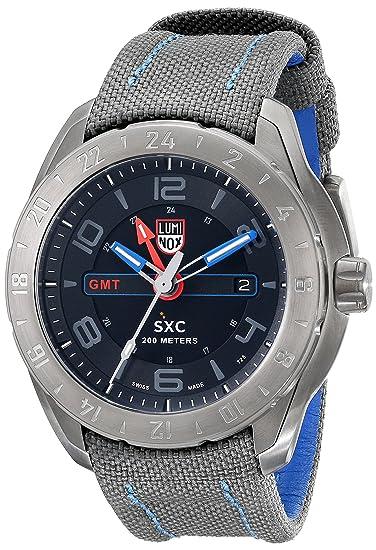 Espacio Luminox SXC 5121-GN 46 mm de acero inoxidable recubierto gris Reloj de nailon