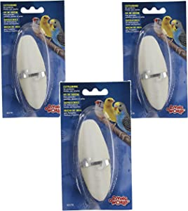 (3 Pack) Living World Cuttlebone with Holder for Cage Birds, Small 5-Inch