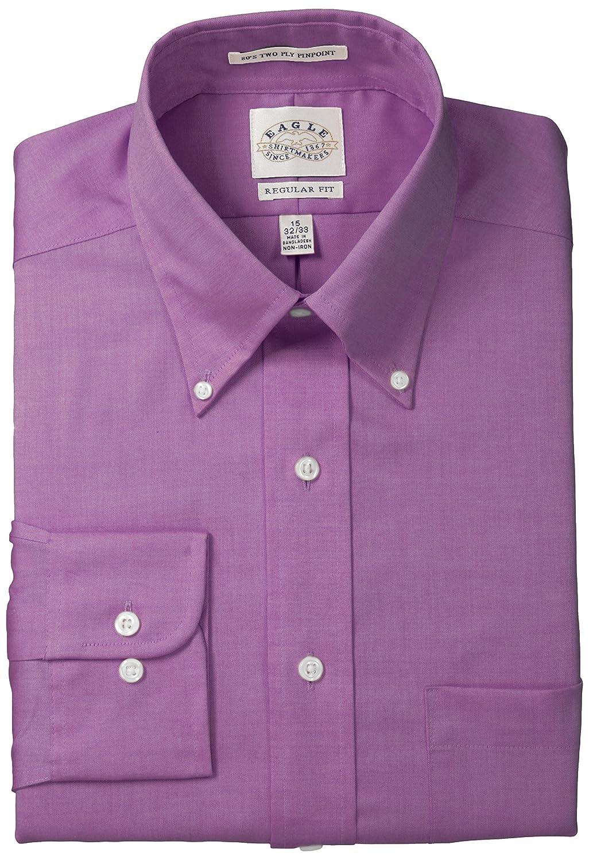 Eagle Men's Non Iron Regular Fit Solid Button Down Collar Dress Shirt 1122000
