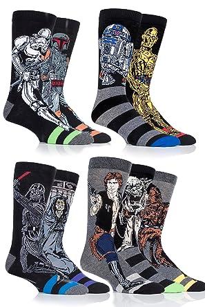 info pour c0712 464c0 SockShop Star Wars Original Héros et Méchants Chaussettes en coton - 6  paires - Homme