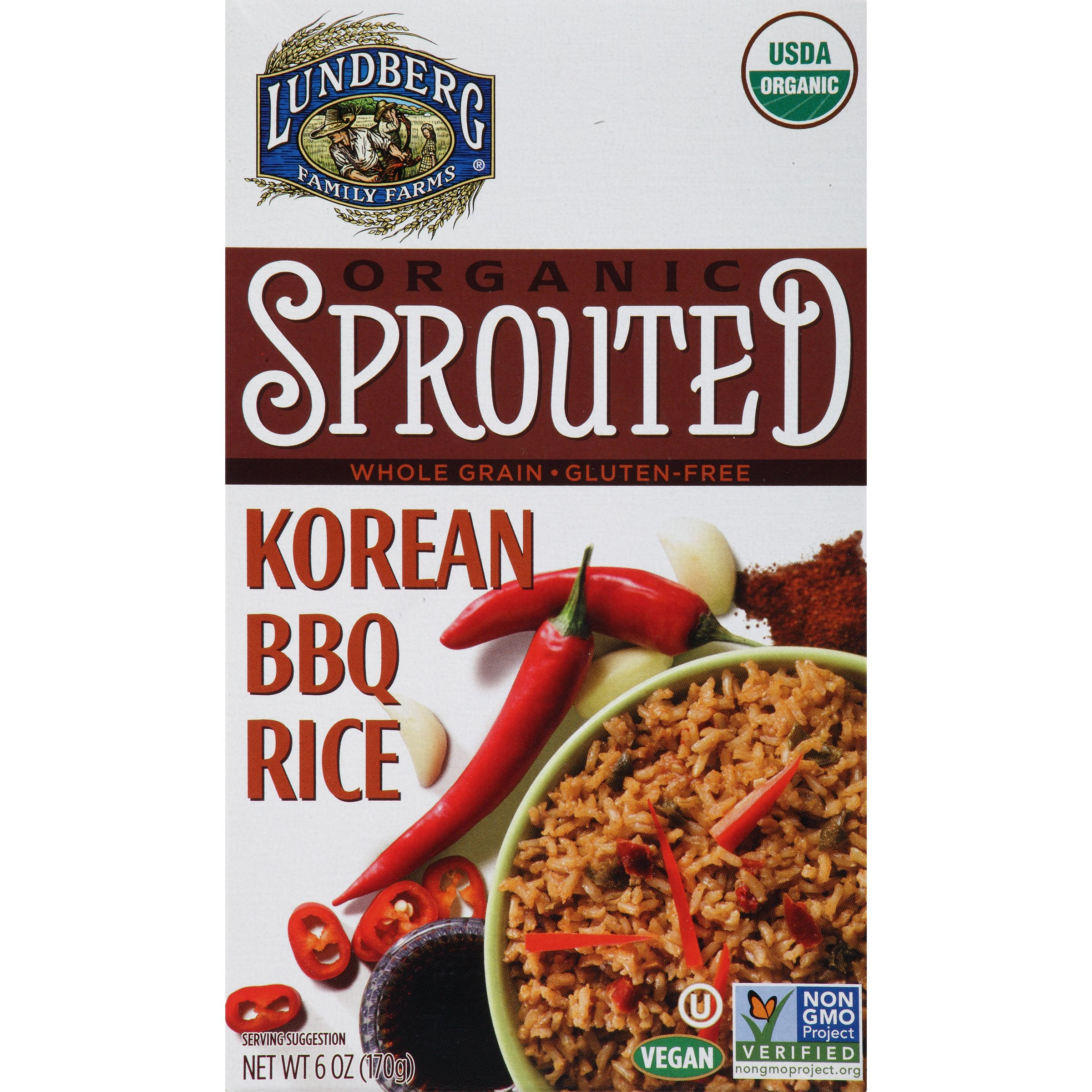 Lundberg Family Farms Organic Sprouted Rice, Korean Barbecue, 6 Ounce (Pack of 6)