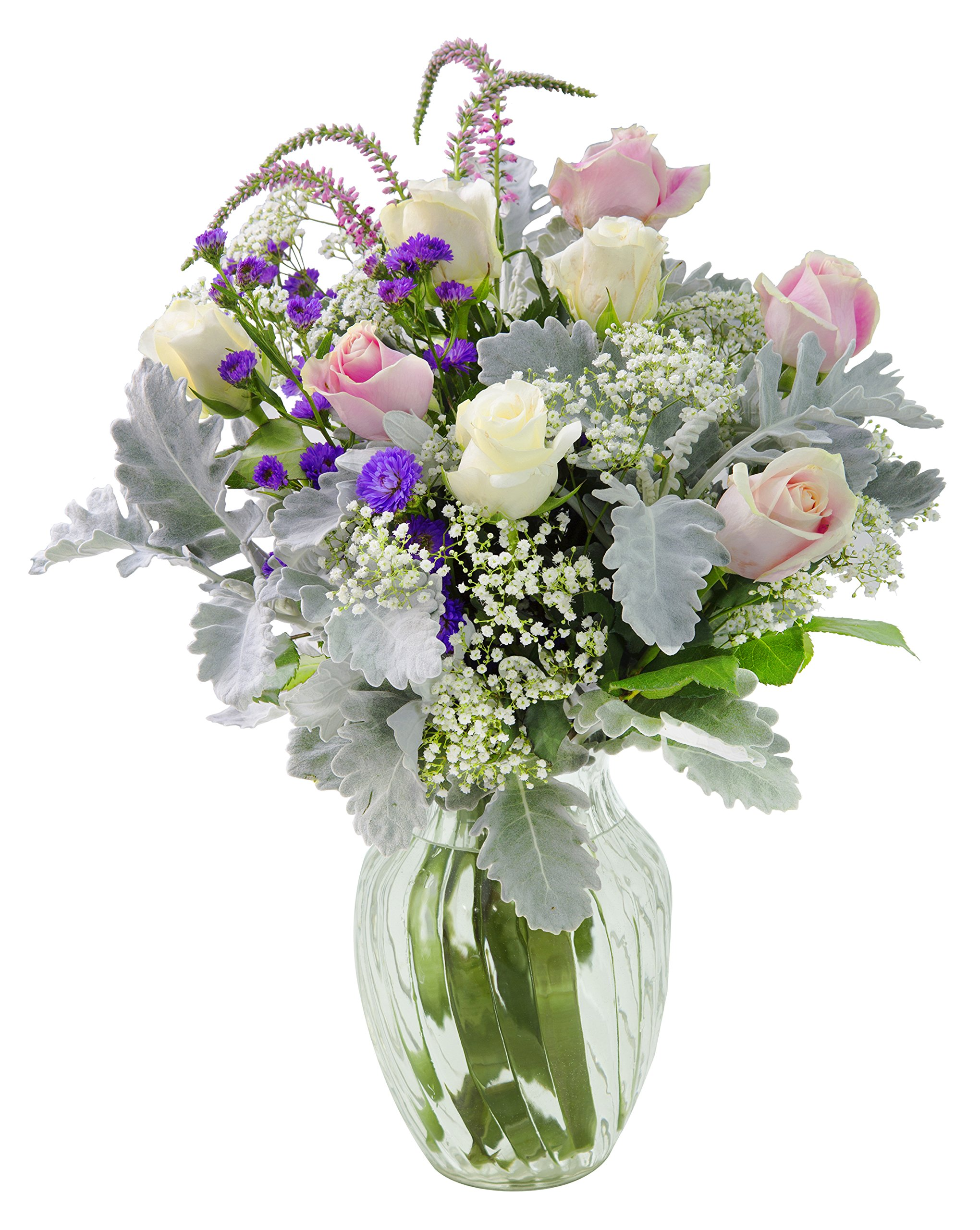 Deluxe Mixed Bouquet of Masterful Floral Beauty with Free Vase Included