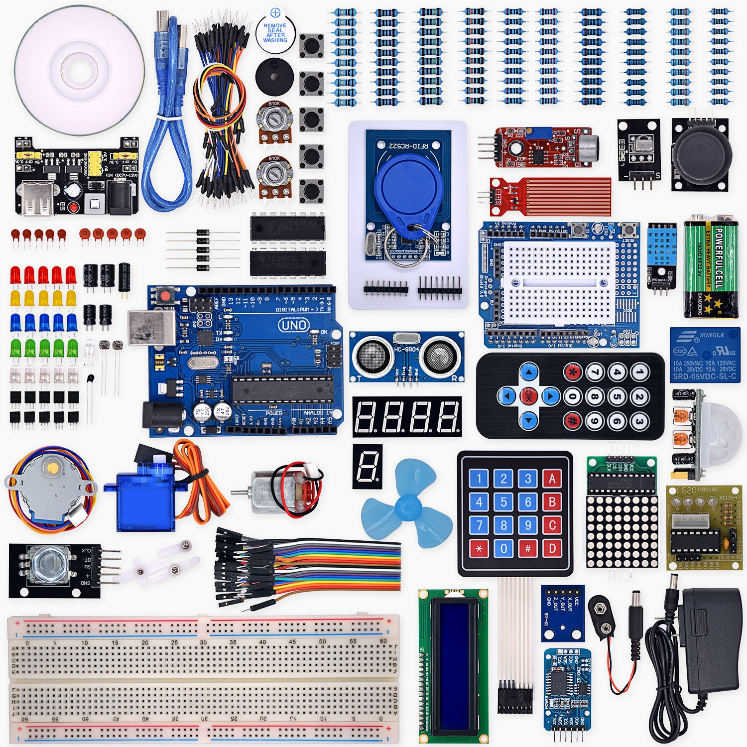 Weikedz Uno R3 Project Complete Starter Kit With Lesson Built The Circuit Described Here On My Protoboard Http Wild Cd Jumper Wire For Arduino Computers Accessories