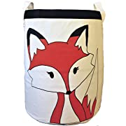 Fox Canvas Toy Storage bin/Laundry Hamper/Nursery Decor/Organization/Large Storage for Boys and Girls