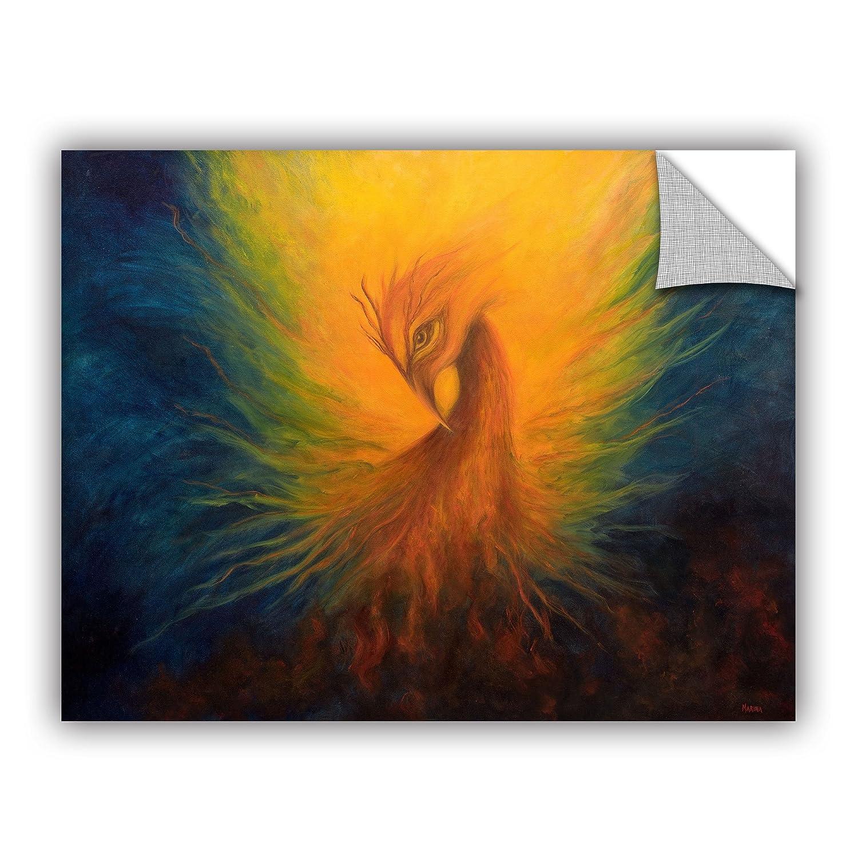 18 by 24 ArtWall Marina Petros Firebird Art Appeelz Removable Wall Art Graphic