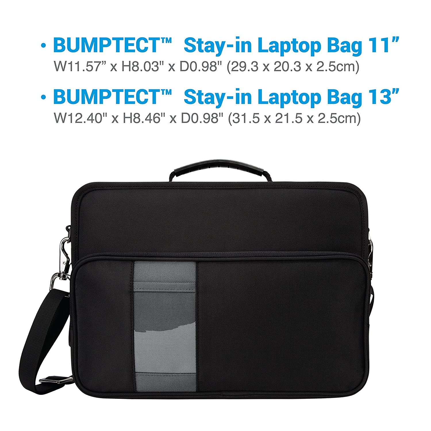 092608329bac iBenzer Bumptect Stay in 13 Inch Shockproof Protective Always On Laptop  Sleeve Case for 13.3 MacBook, Chromebook, Surface, Ultrabook, Black ...