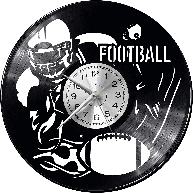 WoD Reloj de Pared de Vinilo con diseño de balón de fútbol ...
