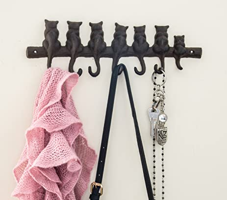 Amazon.com: 7 Cats Cast Iron Wall Hanger - Decorative Cast Iron ...