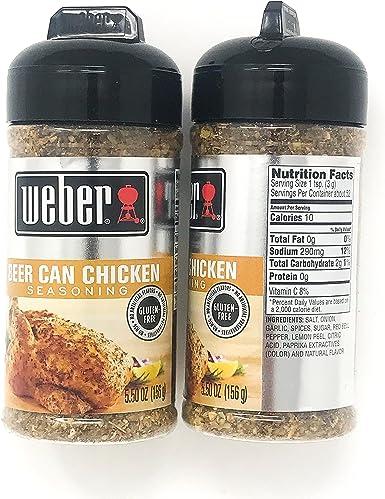 Weber Grill Beer Can Chicken Seasoning, 5.5 oz (Pack of 2): Amazon.es: Alimentación y bebidas