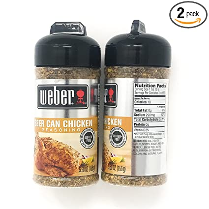 Amazon Com Weber Grill Beer Can Chicken Seasoning 5 5 Oz Pack Of 2 Grocery Gourmet Food