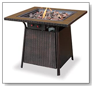 Uniflame GAD1001B LP Gas Outdoor Fire Pit with Tile Mantel