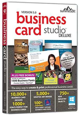 Business card studio pc amazon software business card studio pc reheart Image collections