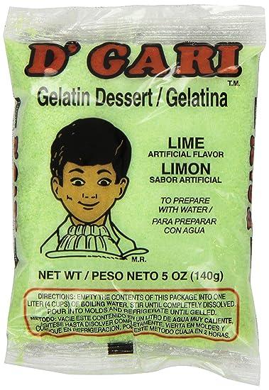 DGari Lime Gelatin Dessert, 5 Ounce