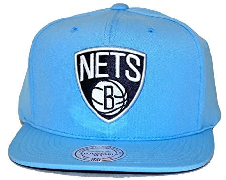 62c2414f88f Image Unavailable. Image not available for. Color  Mitchell   Ness Powder  Blue Brooklyn Nets Blue Snapback
