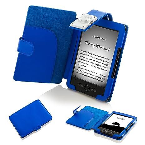 FOREFRONT CASES - Funda con luz LED para Kindle 4 (Piel sintética ...