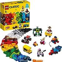 LEGO Classic Yapım Parçaları Ve Tekerlekler 11014 Genç Zihinleri Harekete Geçirecek Eğlenceli Tekerlekli Modeller içeren…