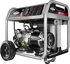 Briggs & Stratton 30607 Gas Powered Portable Generator with 1450 Series OHV 306cc Engine, 5000-watt