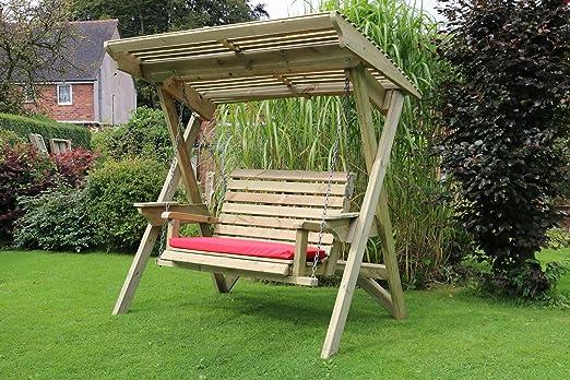 Jardín columpio balancín de jardín | de madera | hamaca Swing asiento | | muebles de jardín: Amazon.es: Jardín