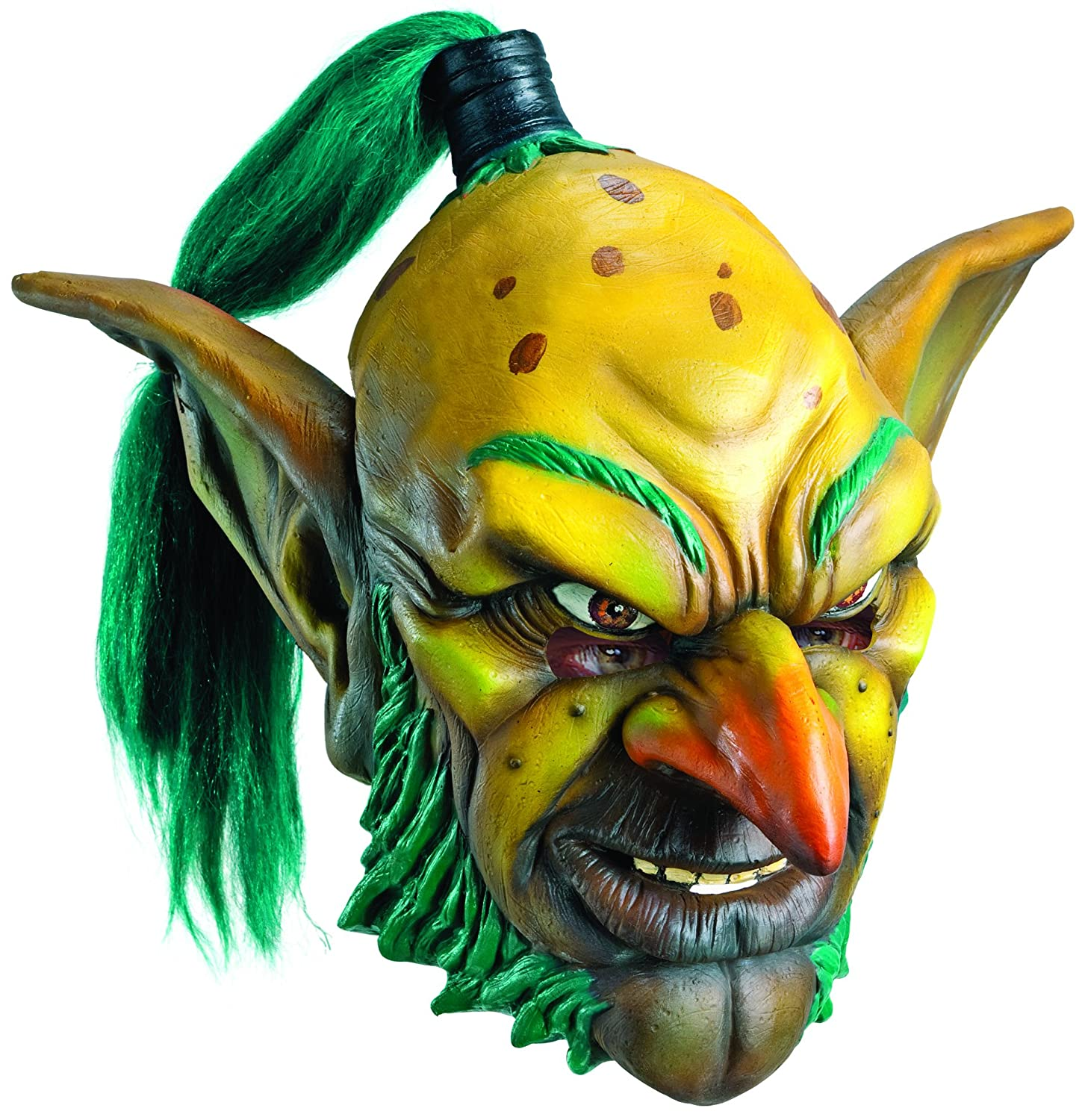 Rubies Costume Co Mens World of Warcraft Goblin Deluxe Overhead Latex Mask One Size Multi