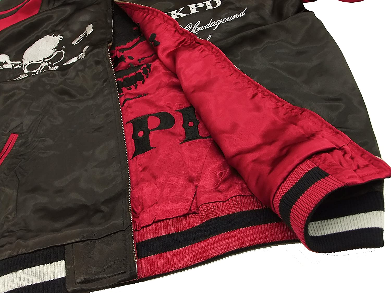 Medium Junkys Paradise Japanese Souvenir Jacket JSJ-801 Mens Sukajan Black//Red