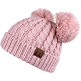 5a479aca413bc8 C.C Hatsandscarf Exclusives Cable Knit Double Pom Winter Beanie (HAT-60)